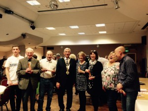 """ HBTG wins the First Prize at the Mayor Fundraising Quiz, May 2016. """